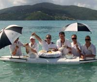 Cruise Ship Crew Members at Beach