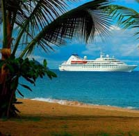Cruise Ship at the Beach